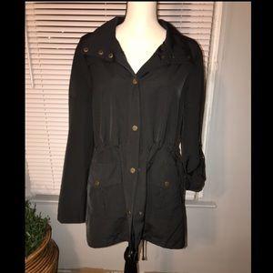 NWT Sanctuary Nylon Trench Jacket Black Medium